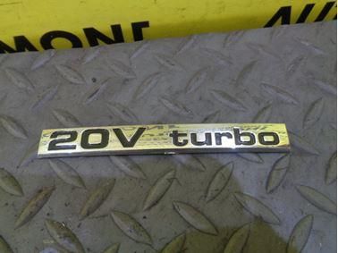 Nápis 20V Turbo 1U0853687D - Škoda Octavia 1 1U 2002 Sedan Elegance 1.8 T 110 kW AUM EVS