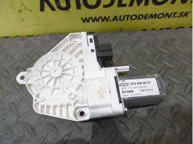 Ľavý predný motorček okna 4F0959801D - Audi A6 C6 4F 2006 Avant Quattro 3.0 TDI 165 kW BMK HVE