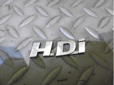 Nápis HDI  - Peugeot 307 2003  2.0 HDi 66 kW