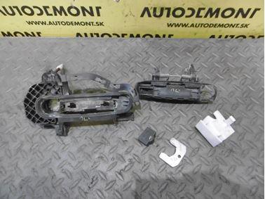 Ľavá predná kľučka dverí 4F0837207 4F0837207B 4F0837885 4F1837897 - Audi A6 C6 4F 2006 Avant Quattro 3.0 TDI 165 kW BMK HVE