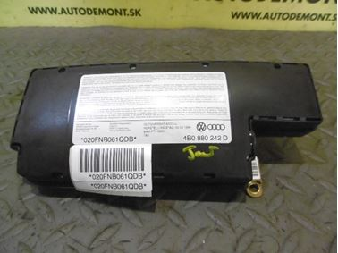 4B0880242D 4B0880242B 4B0880242C 4B0880242H 4B0880242J - Pravý predný airbag sedačky - Audi A6 1998 - 2005 A6 Allroad 2000 - 2005